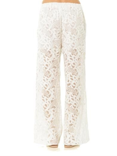 Zimmermann Sundance wide leg trousers