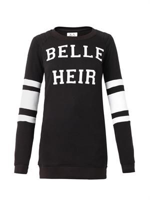 Belle Heir-print sweatshirt