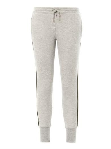 Zoe Karssen Fleece cotton-jersey stripe sweatpants