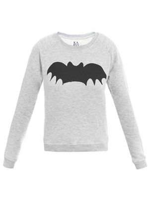 Bat-print sweater