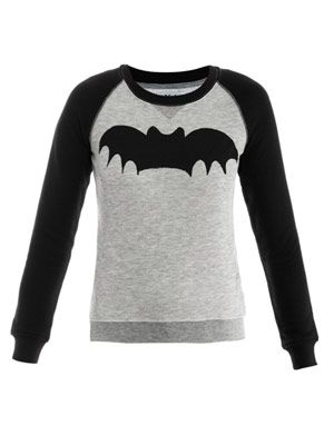 Bat bi-colour sweat top
