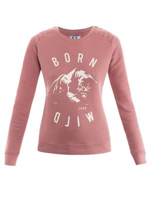Born wild sweat top