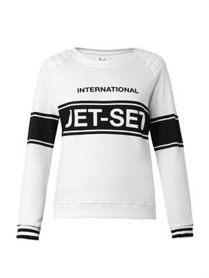 International Jet Set-print sweatshirt