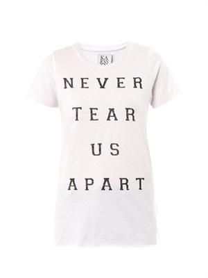 Never Tear Us Apart print T-shirt