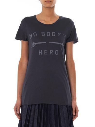 Zoe Karssen Nobody's Hero-print T-shirt