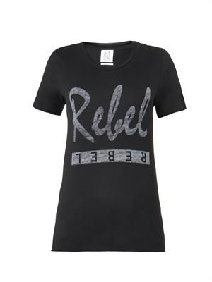 Rebel-print T-shirt
