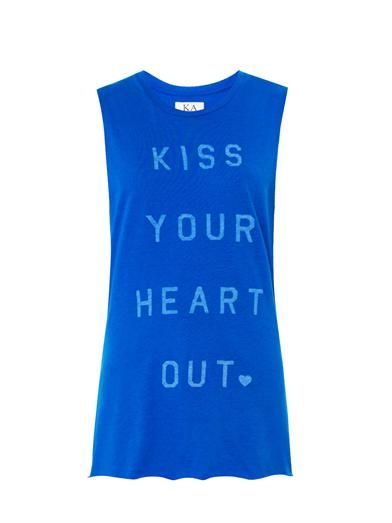 Zoe Karssen Kiss Your Heart Out-print tank