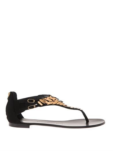 Giuseppe Zanotti Metal-embellished suede sandals