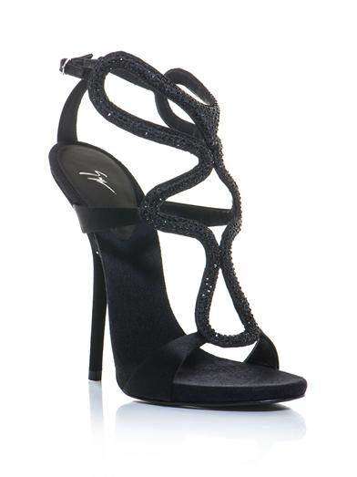 Giuseppe Zanotti Crystal embellished cut out sandals