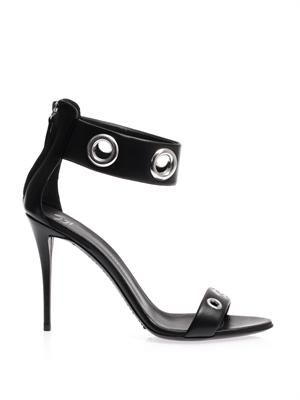 Rivet-embellished high-heel sandals