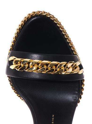 Giuseppe Zanotti Chain-embellished wedge sandals