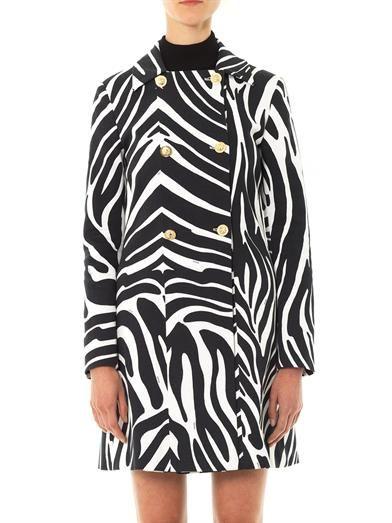 VERSUS X J.W. ANDERSON Zebra-print coat