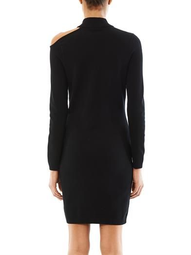 VERSUS X J.W. ANDERSON High-neck shoulder slit dress