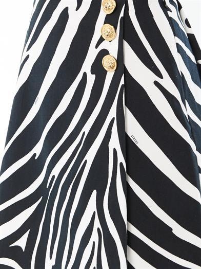 VERSUS X J.W. ANDERSON Zebra-print skirt
