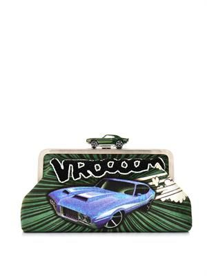 Clutch Me Vroom-embellished clutch
