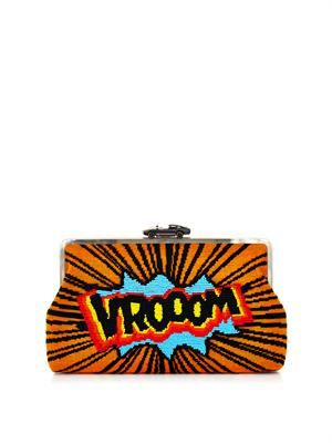 Clutch Me Vroom embellished clutch