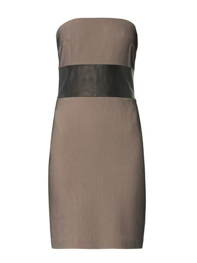 Robert Rodriguez Bonded-mesh strapless dress