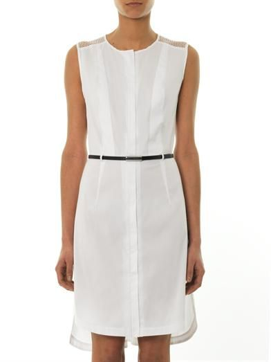 Robert Rodriguez Net insert cotton dress