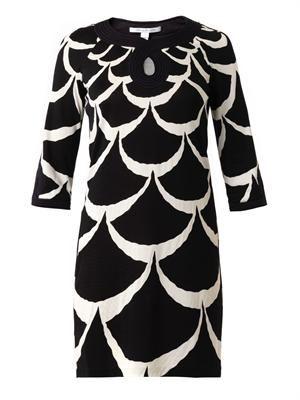 Acorn Moon-print dress