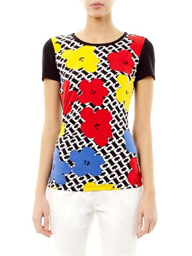 Diane Von Furstenberg Pop Wrap Limited Edition Varhola T-shirt