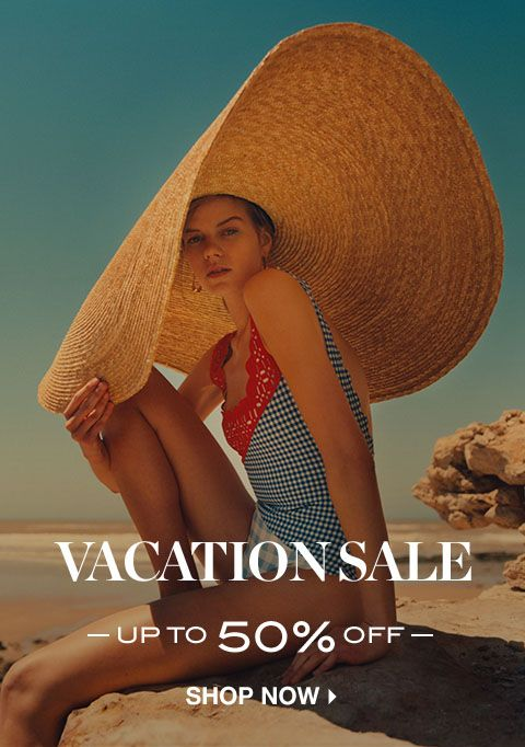 VACATION SALE: UP TO 50% OFF