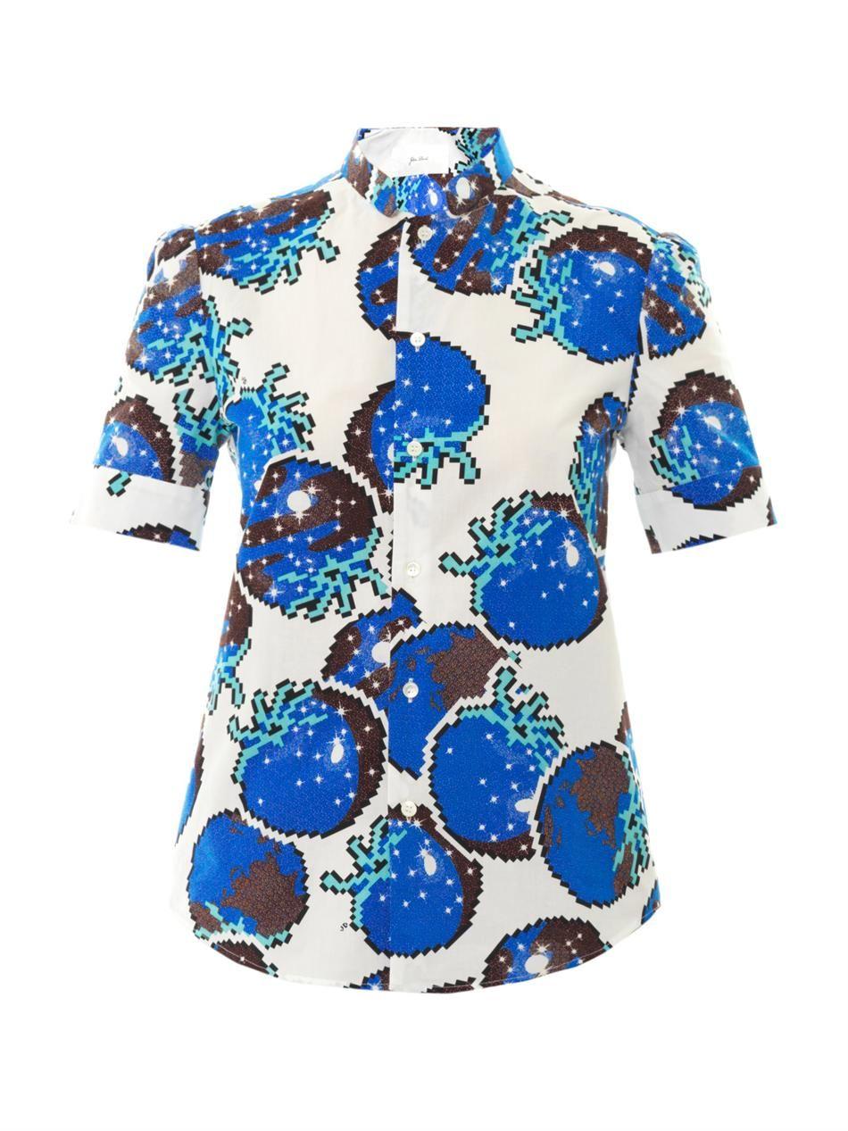 Cosmic sea fruit print cotton shirt  Julien David  MATCHESFA